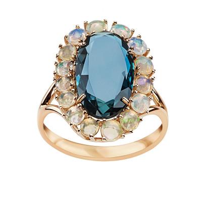 pierścionek-złoty-z-topazem-i-opalami-1