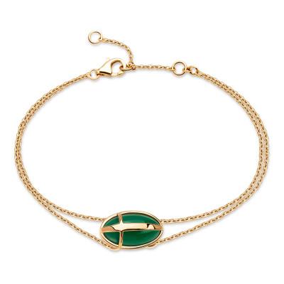 bransoletka-złota-z-zielonym-agatem-skarabeusz-1