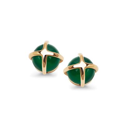 kolczyki-złote-z-zielonymi-agatami-skarabeusz-1
