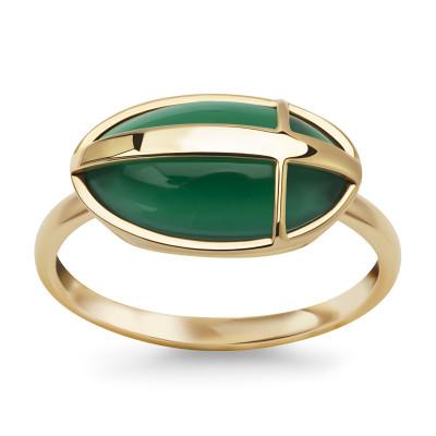 pierścionek-złoty-z-zielonym-agatem-skarabeusz-1