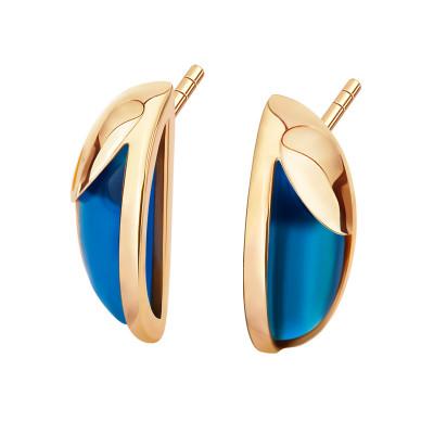 kolczyki-złote-z-niebieskimi-agatami-skarabeusz-1