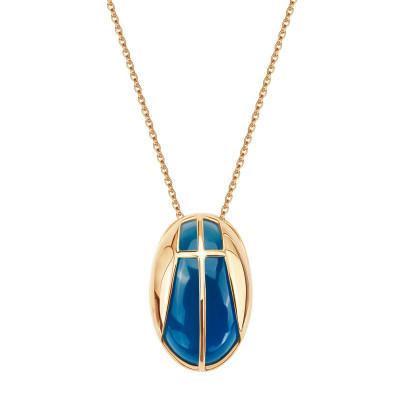 naszyjnik-złoty-z-niebieskim-agatem-skarabeusz-1