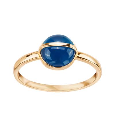 pierścionek-złoty-z-niebieskim-agatem-skarabeusz-1