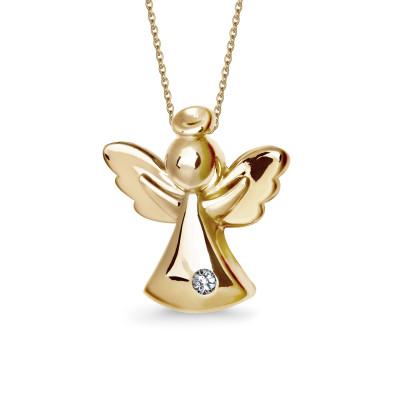 zawieszka-złota-anioł-1
