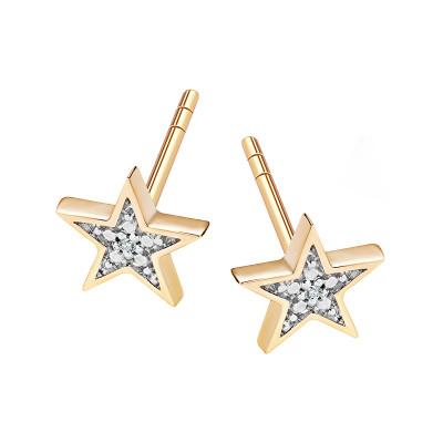 kolczyki-złote-z-diamentami-gwiazda-1