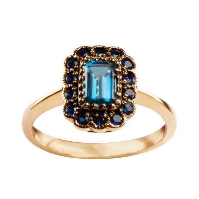 pierścionek-złoty-z-szafirami-i-topazem-kolekcja-wiktoriańska-1
