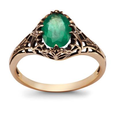 kolekcja-wiktoriańska-pierścionek-złoty-z-szmaragdem-1