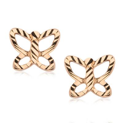 kolczyki-złote-motyl-1