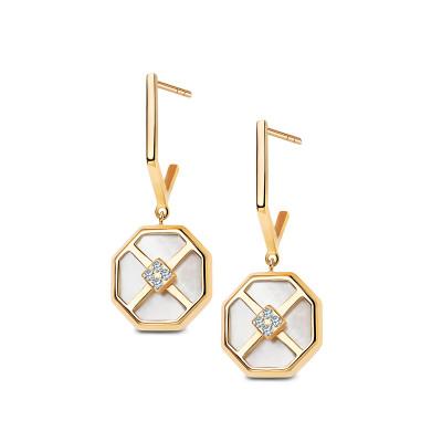 art-deco-kolczyki-złote-z-masą-perłową-i-cyrkoniami-1