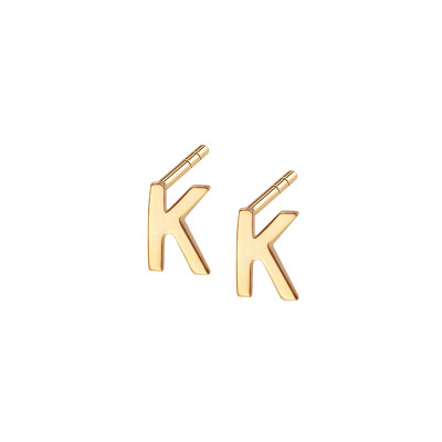 kolczyki-złote-litera-k-1