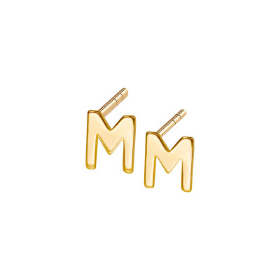 kolczyki-złote-litera-m-1