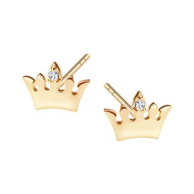kolczyki-złote-z-cyrkonią-korona-mini--1