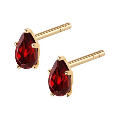 queen-of-hearts-gold-kolczyki-złote-z-granatami-1