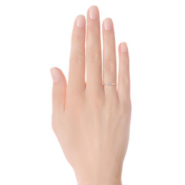 Zdjęcie Lotos - pierścionek z diamentem #5