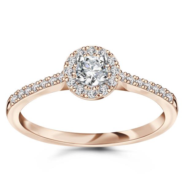 Zdjęcie Metropolitan - pierścionek z różowego złota z diamentami #1