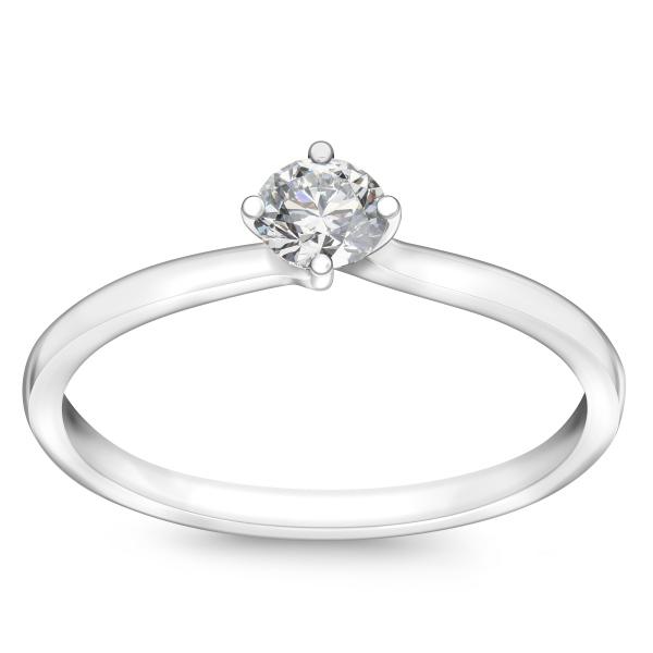 Zdjęcie Valentine - pierścionek z białego złota z diamentem #1