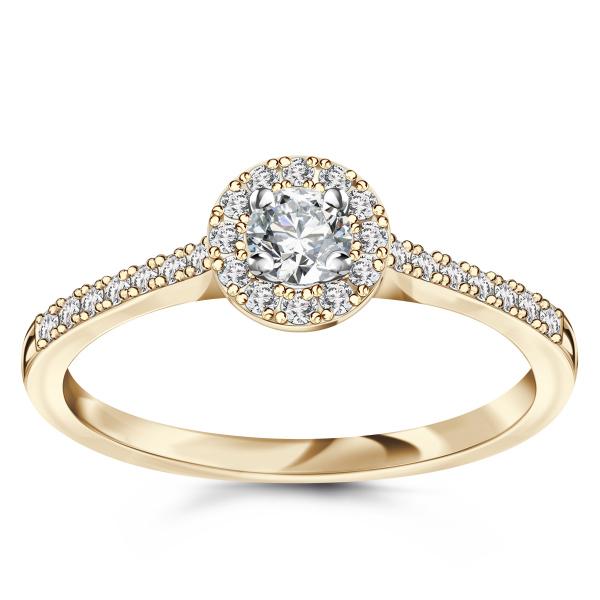 Zdjęcie Metropolitan - pierścionek z żółtego złota z diamentami #1