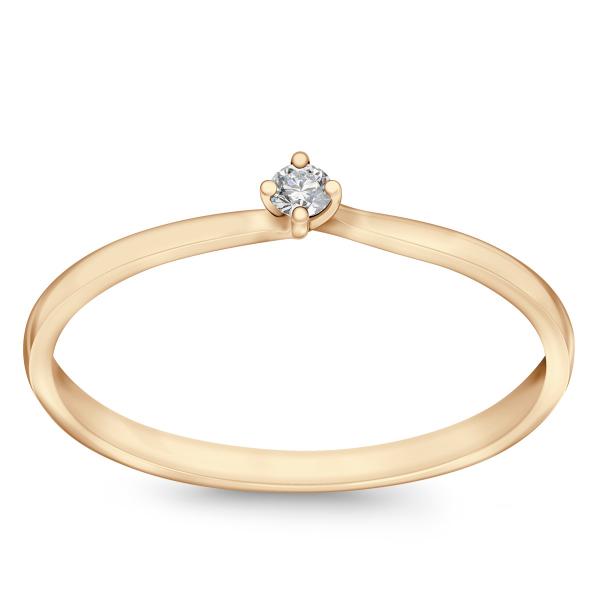Zdjęcie Valentine - pierścionek złoty z diamentem #1