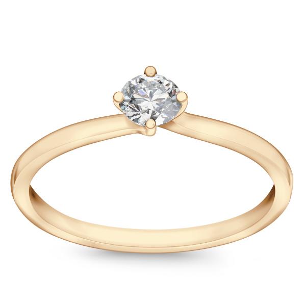 Zdjęcie Valentine - pierścionek z żółtego złota z diamentem #1