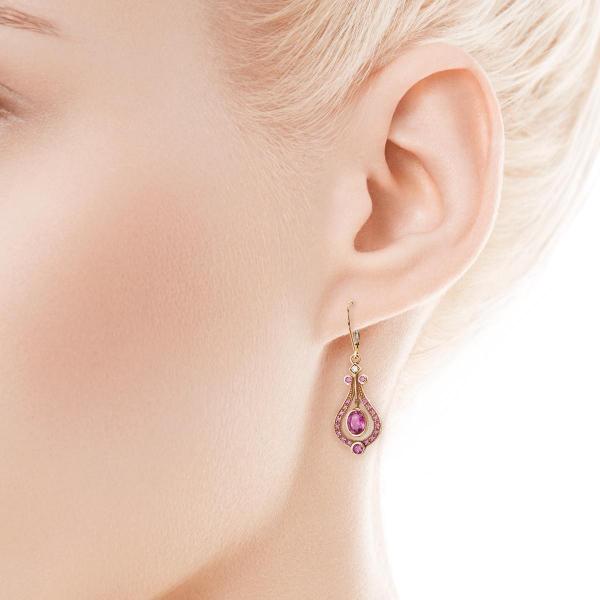 Zdjęcie Kolekcja Wiktoriańska - kolczyki z diamentami i rubinami #3