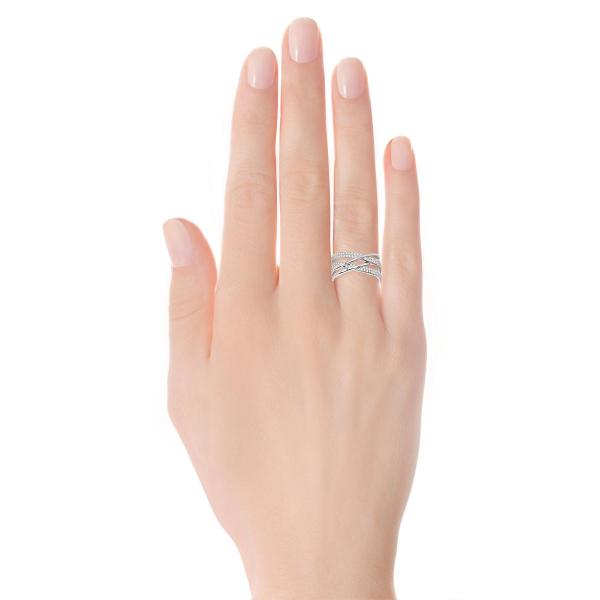 Zdjęcie Scarlett - srebrny pierścionek z cyrkoniami #2