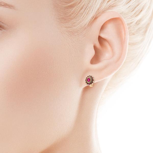 Zdjęcie Kolekcja Wiktoriańska - kolczyki z rubinami #2