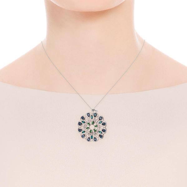 Zdjęcie Pavoni - zawieszka srebrna z kryształami Swarovskiego  #2