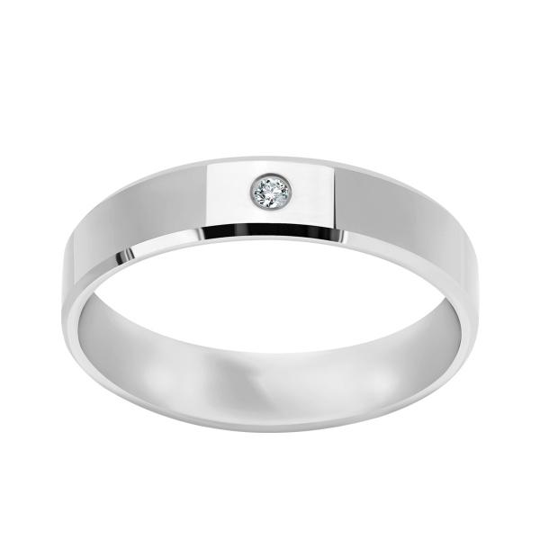 Zdjęcie Złota obrączka z diamentem  #1
