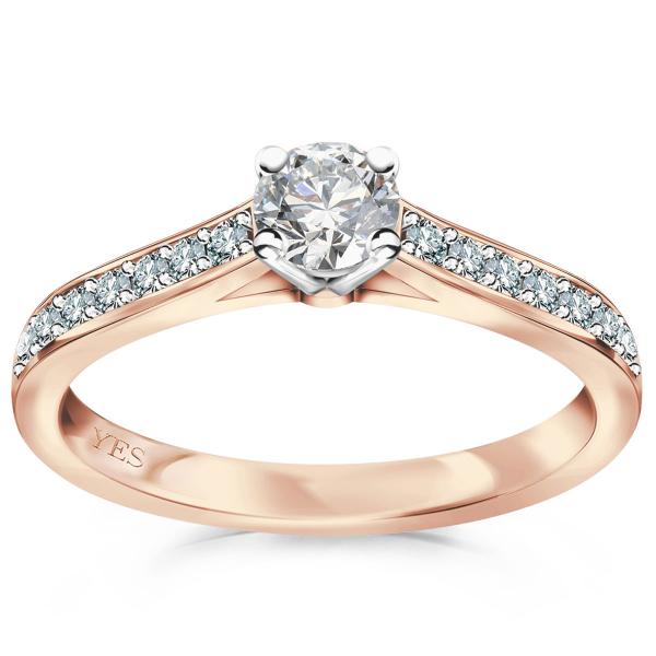 Zdjęcie Éternel - pierścionek z różowego złota z diamentami #1