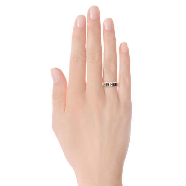 Zdjęcie Kolekcja Wiktoriańska - pierścionek z diamentami i szafirami #3