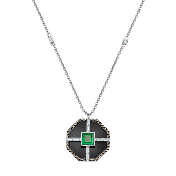 Zdjęcie Art Deco - naszyjnik srebrny z markazytami i agatem #1
