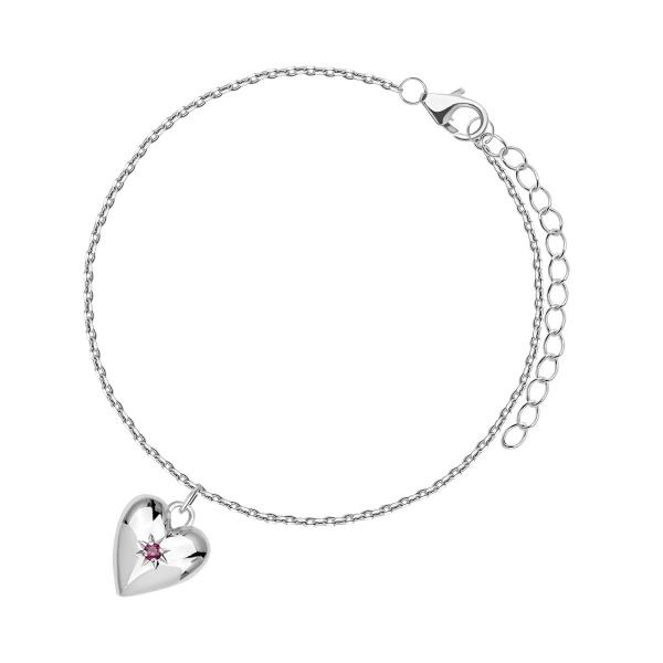 Zdjęcie BeLoved - bransoletka srebrna z rubinem #1