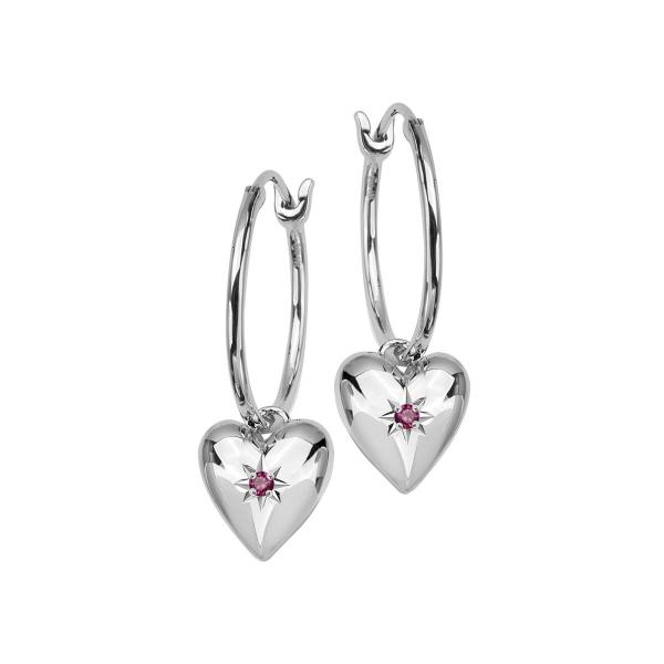 Zdjęcie BeLoved - kolczyki srebrne z rubinami #1