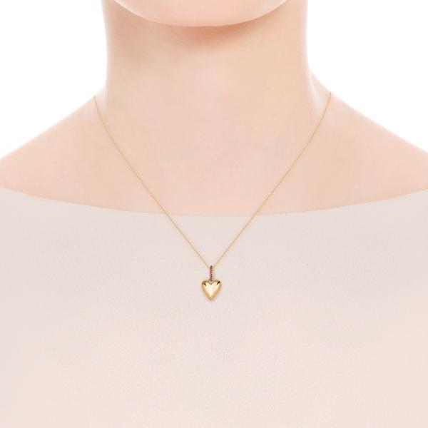 Zdjęcie BeLoved - naszyjnik srebrny pokryty złotem z rubinami #3