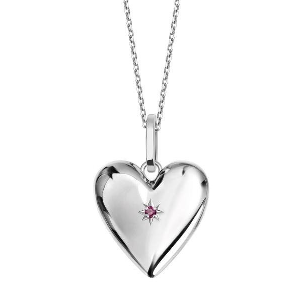 Zdjęcie BeLoved - naszyjnik srebrny z rubinem #1