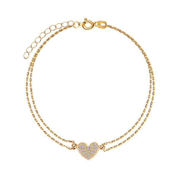 bransoletka-pozłacana-z-cyrkoniami-serce-1