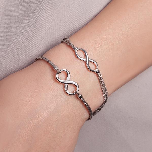 bransoletka-srebrna-nieskończoność-sempre-2