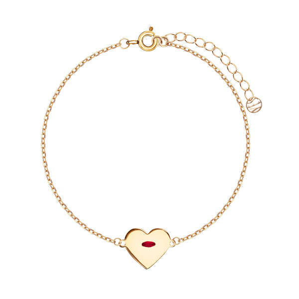 bransoletka-pozłacana-ze-sznurkiem-serce-simple--1