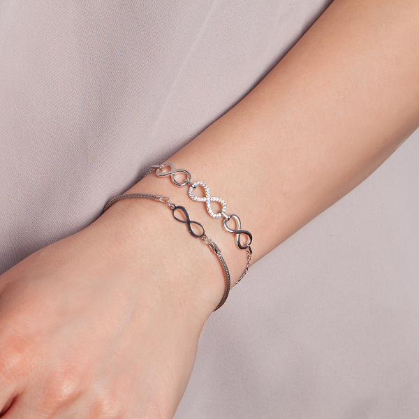 bransoletka-srebrna-z-cyrkoniami-nieskończoność-sempre-2