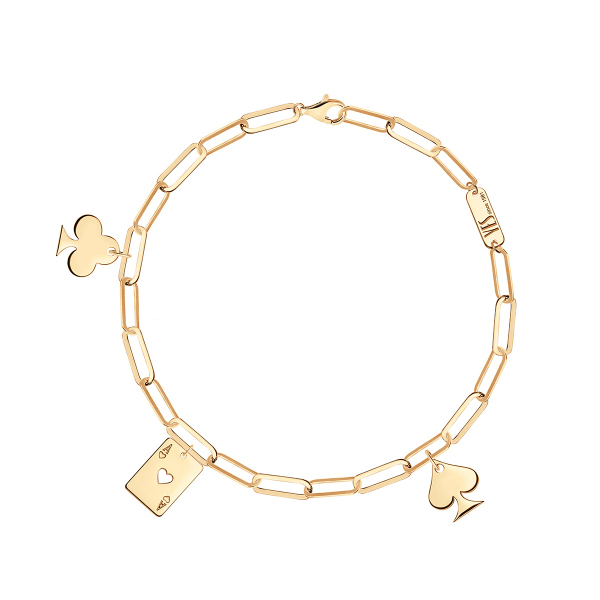 Zdjęcie Chains - bransoletka srebrna pokryta złotem #1