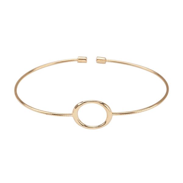 Zdjęcie Geometric - bransoletka srebrna pokryta złotem #1