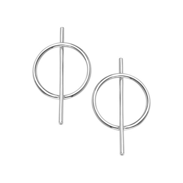 Zdjęcie Geometric - srebrne kolczyki #1