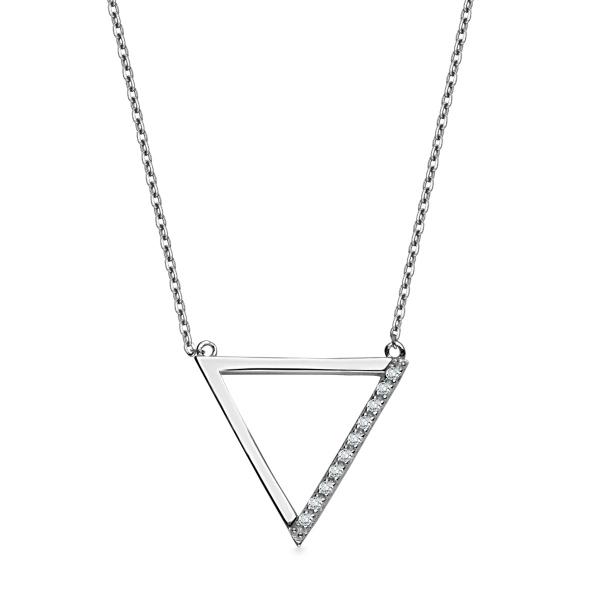 Zdjęcie Geometric - srebrny naszyjnik #1