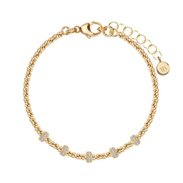 Zdjęcie Gloss - bransoletka srebrna pokryta złotem #1