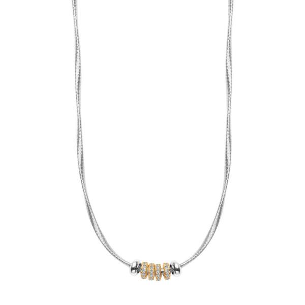 Zdjęcie Gloss - naszyjnik srebrny z cyrkoniami #1