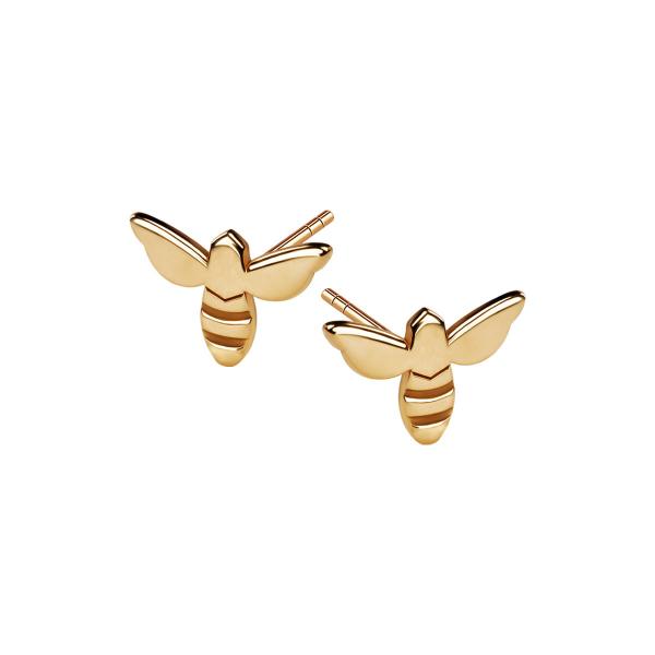 kolczyki-pozłacane-pszczoła-queen-b-1