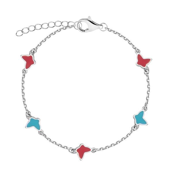 Zdjęcie Mini - bransoletka srebrna pokryta emalią #1