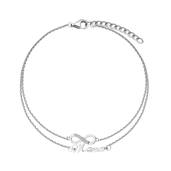 Zdjęcie Mini - bransoletka srebrna z cyrkoniami #1