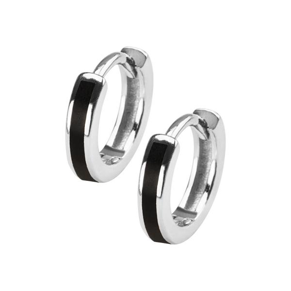 Zdjęcie Mini - kolczyki srebrne pokryte emalią #1