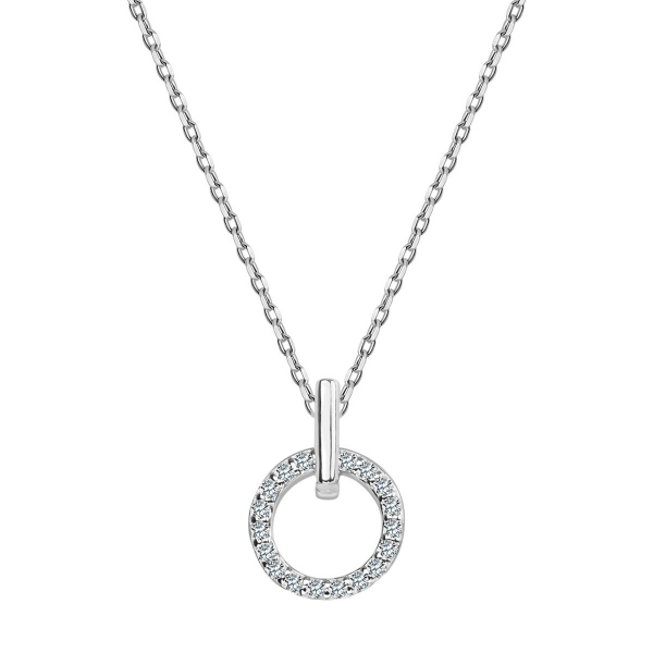 Zdjęcie Mini - naszyjnik srebrny z cyrkoniami #1